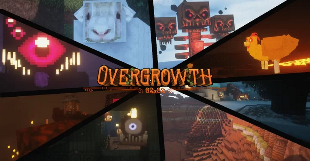 Overgrowth Resource Pack过度生长材质包[1.14.X—1.15.X]